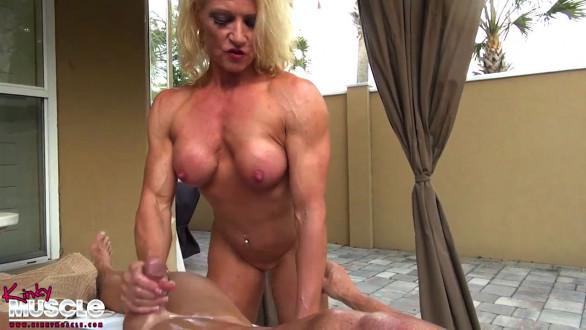 XXX muscle porn hand job