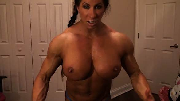 Angela Salvagno showing off her amazing physique