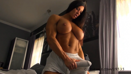 fbb holding her huge cock bulge