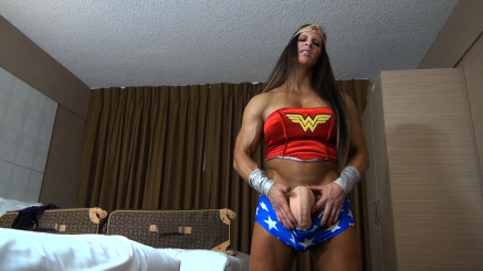 angela salvango grabbing her big dick