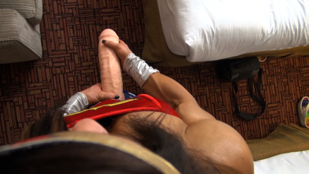 POV of angies huge futanari cock