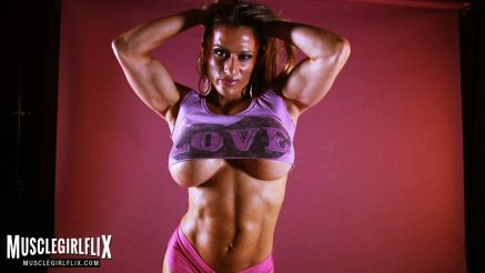 Maria Garia busty fitness model muscle