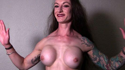 claudia kink pec flexing topless