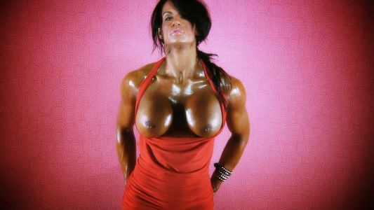 Jennifer Love topless fitness model.