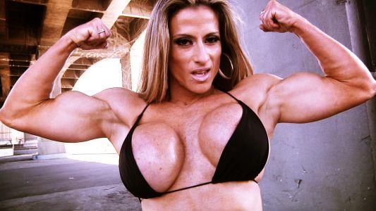 Maria Garcia busty double biceps.