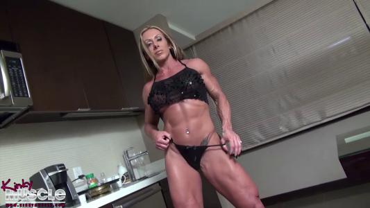 Monica Martin tall and vascular female bodybuilder bod