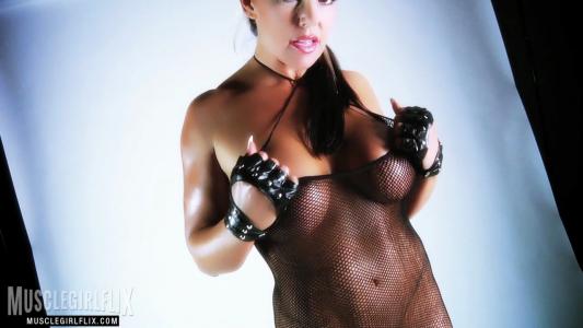 Tara Caballero rocking a black mesh