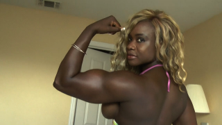 big biceps on Angel Curvz