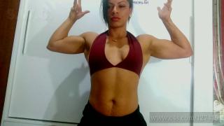 Marclene sexy babe flaunting athletic bod
