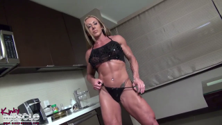 Monica Martin tall and vascular female bodybuilder bod