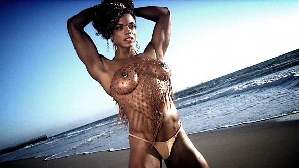 Alexis Ellis hot topless shot on the beach.