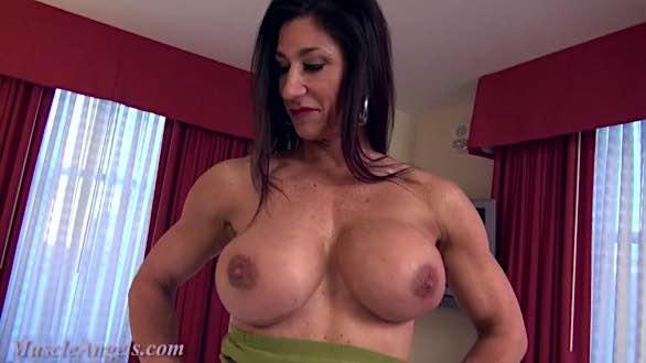 busty female bodybuilder topless