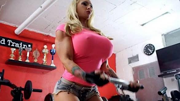 busty fitness model Krisztina Sereny