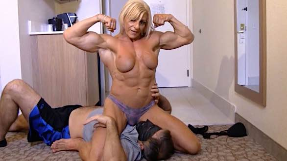 fbb Laura Carolan topless wrestling