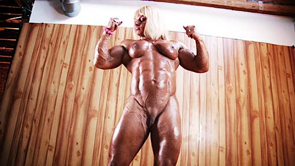 Maryse Manios ripped muscle babe