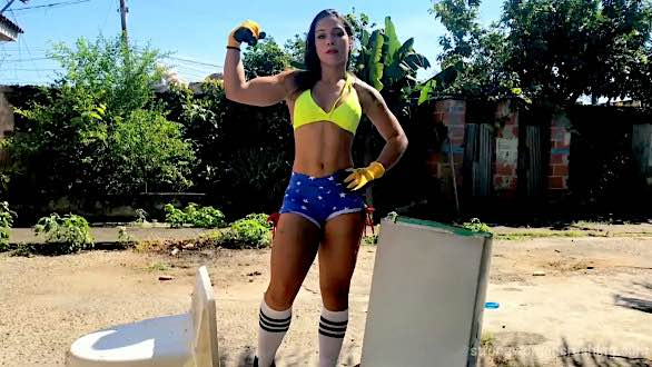 brazilan female bodybuilder glauce strong woman videos