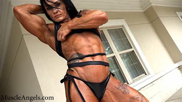 massive muscle girl contest shape
