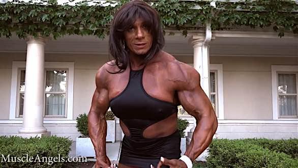 massive fbb pumping up biceps