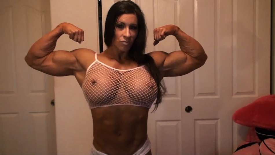 muscle pornstar angela salvagno big bicep flex