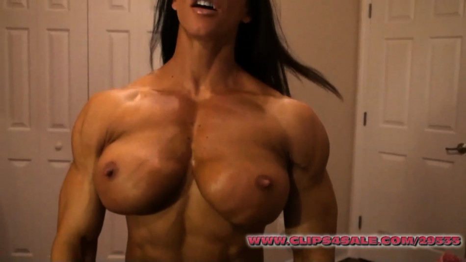 muscle webcam model angela salvagno pec flex