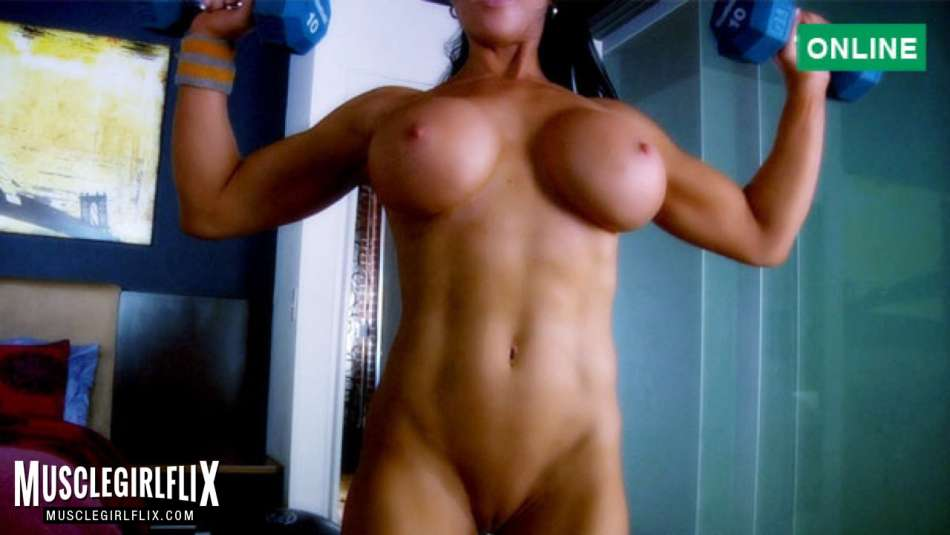 fitness model nude workout on webcam