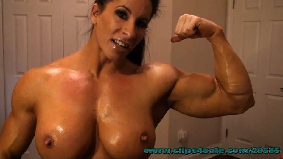 Angela Salvagno huge bicep muscle girl