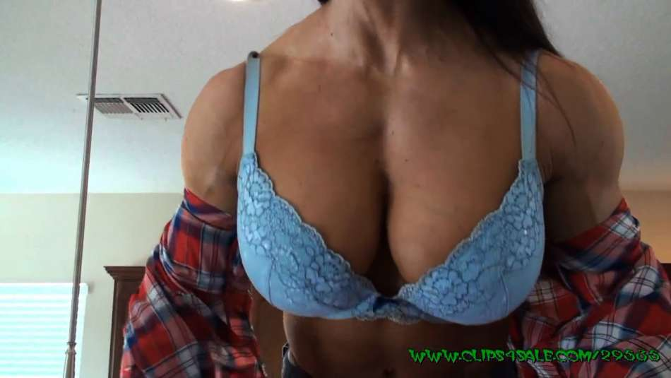 Angela Salvagno hot muscle girl strip