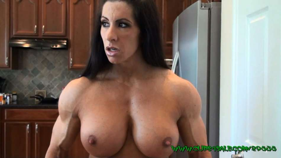 Angela Salvagno topless and strong muscle babe