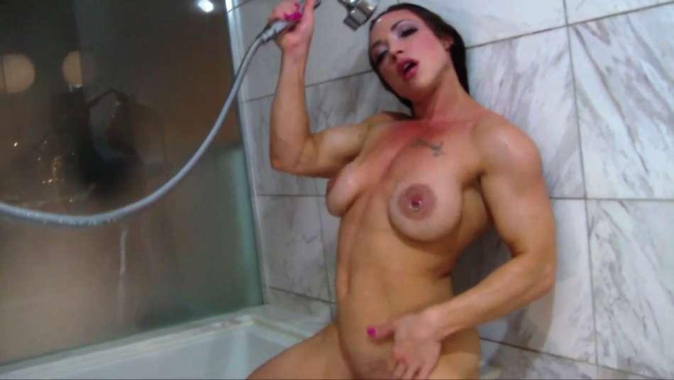 Brandi Mae dripping wet muscle babe