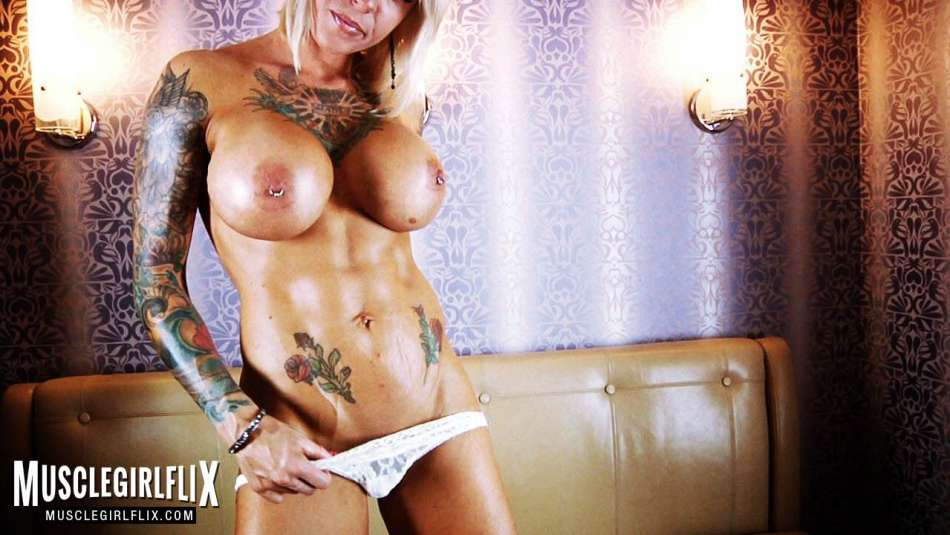 Duchess Dani muscle girl flix topless and tatted