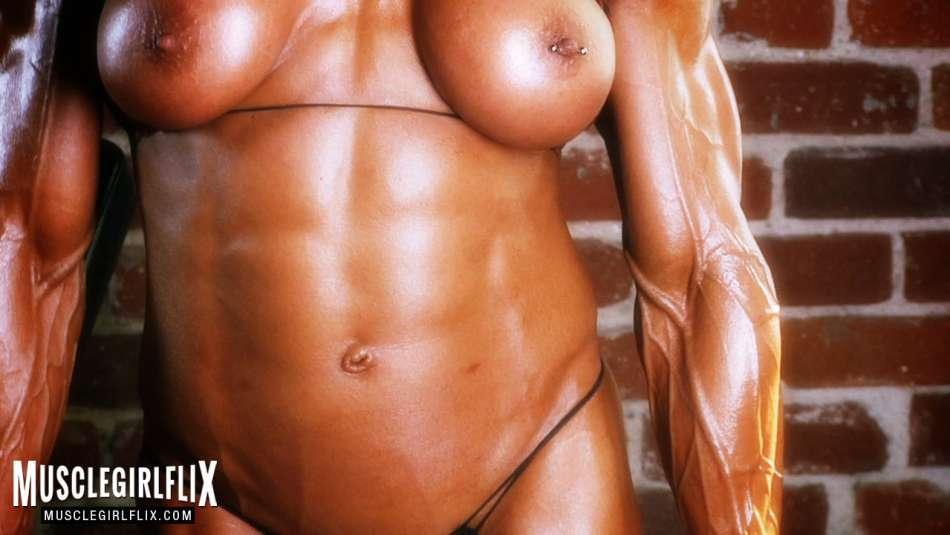 female bodybuilder Marina Lopez super vascular arms