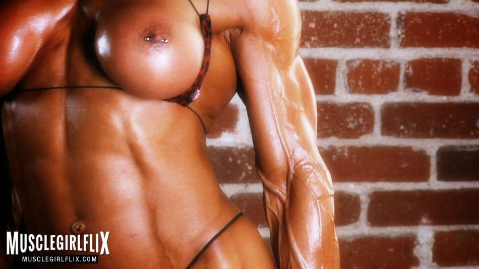Marina Lopez well sculpted oily bod