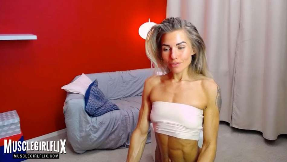 lean fit girl on webcam