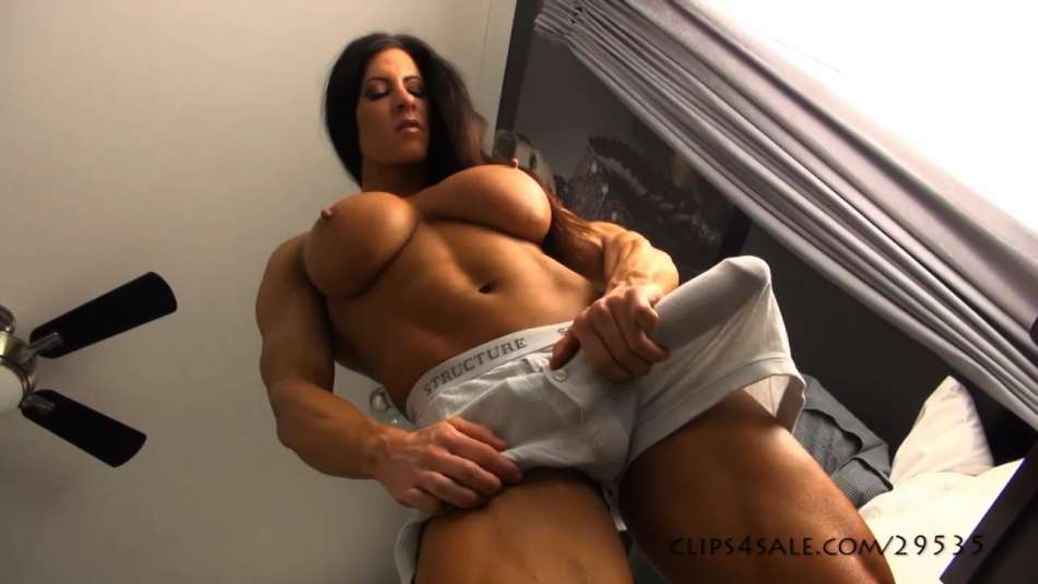 huge futanari morning wood bulge video angela salvagno