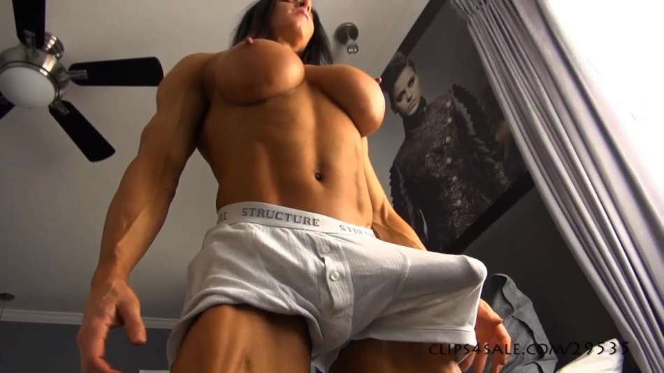 female bodybuilder huge cock futanari video