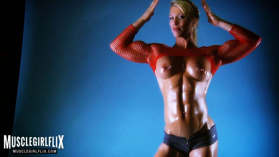 Ginger Martin topless muscular milf