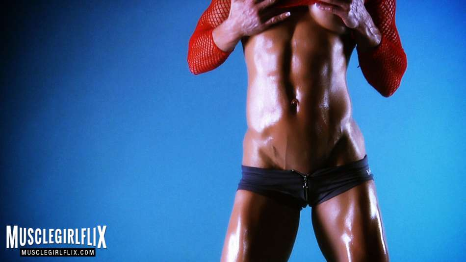 Ginger Martin hard ripped abs