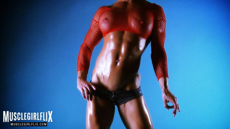 Ginger Martin oiled and fit bod