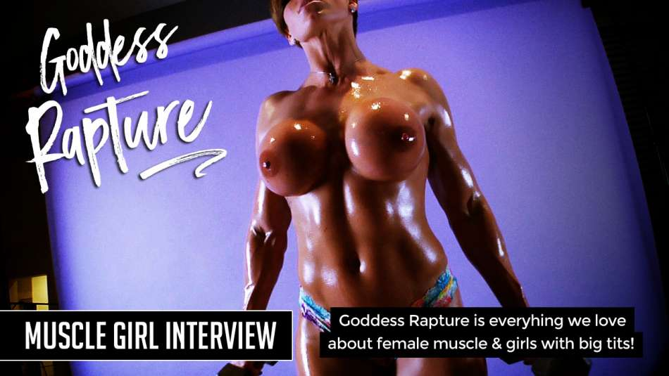 nude muscle girl porn star goddess rapture covered in oil