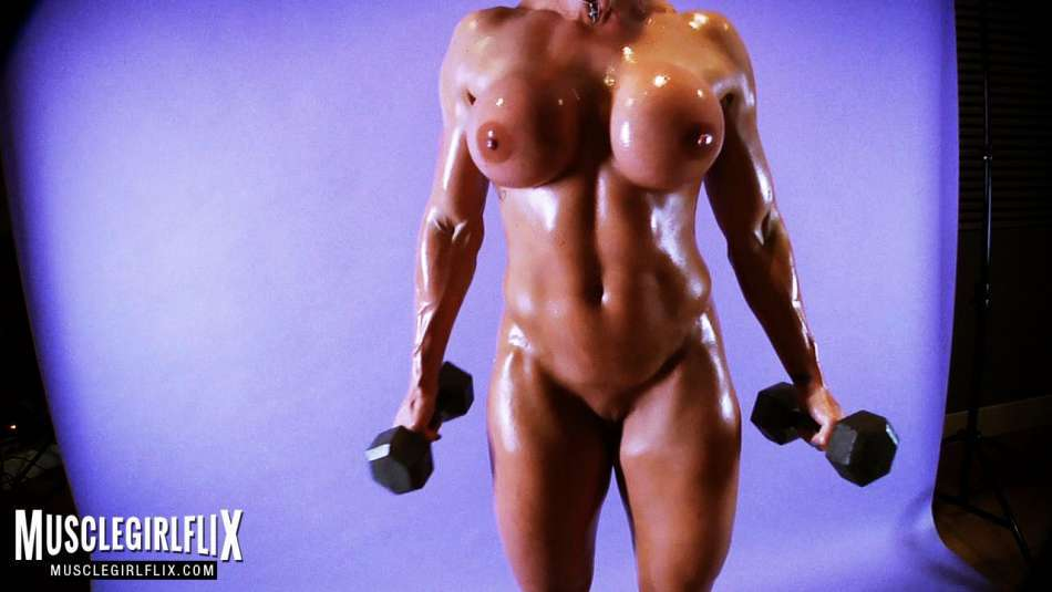 Goddess Rapture muscle girl nude