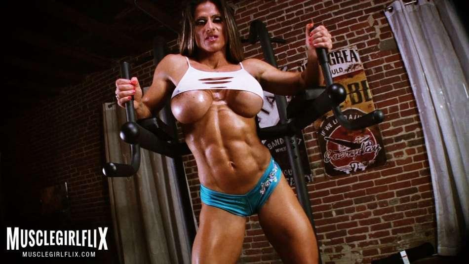 ulitimate muscle MILF massive underboob big tits