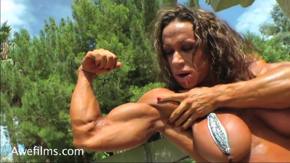 muscle girl big bicep flex