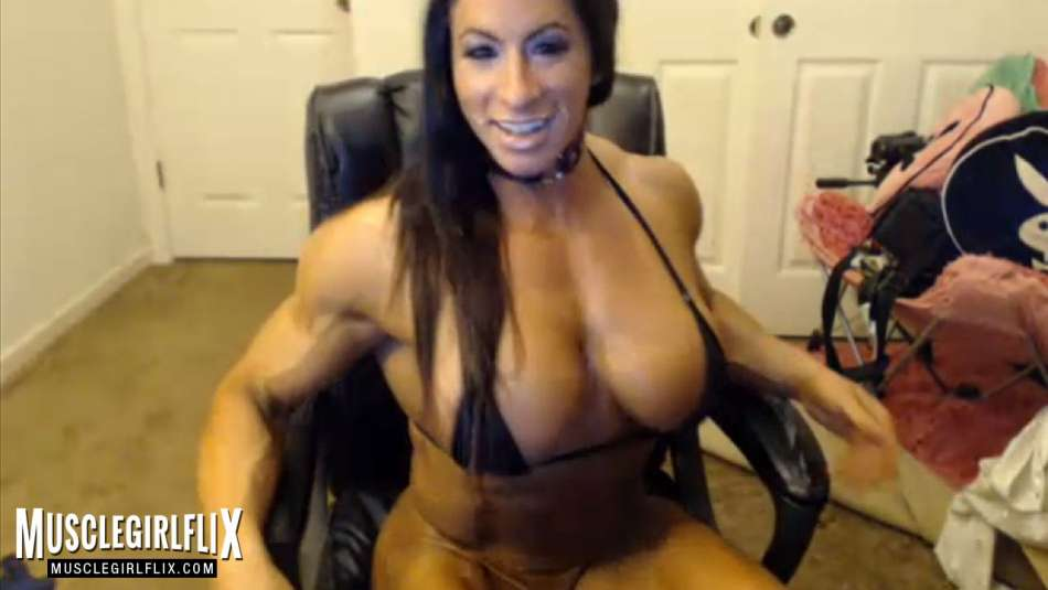 Angela Salvagno Amazing shredded Muscle Girl Cam