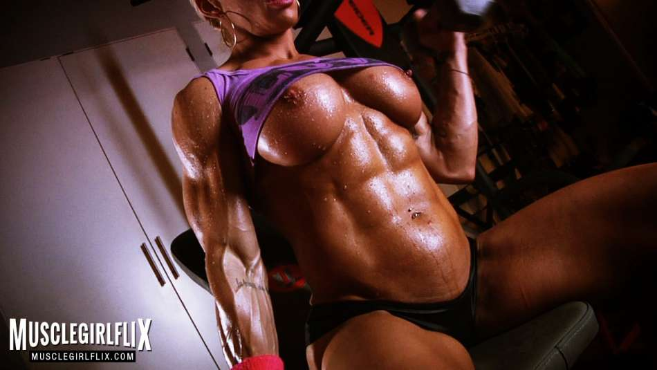 female bodybuilder jill jaxen ripped topless muscle