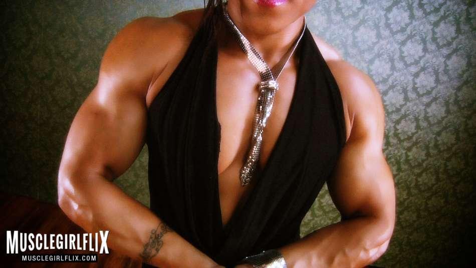 Karen Garrett huge biceps