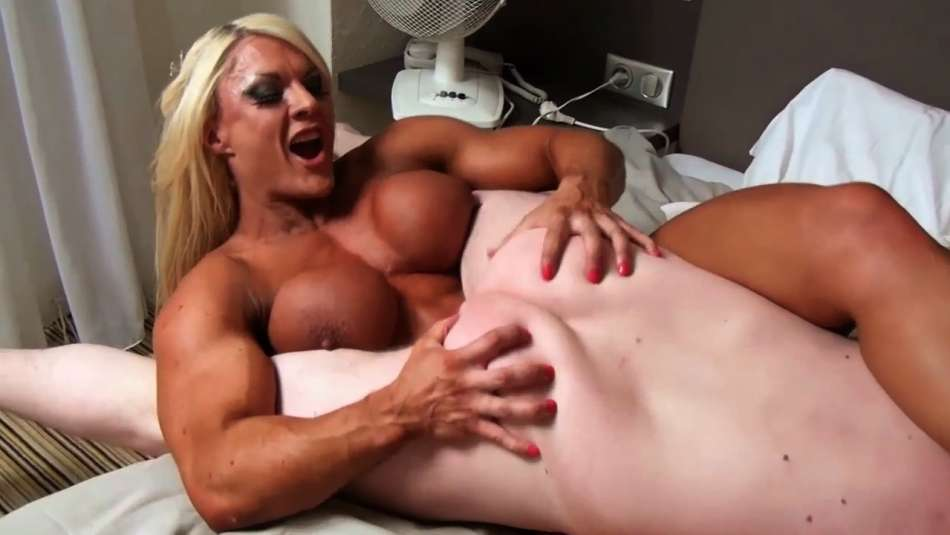 fbb dominatrix Lisa Cross kicking a guys ass