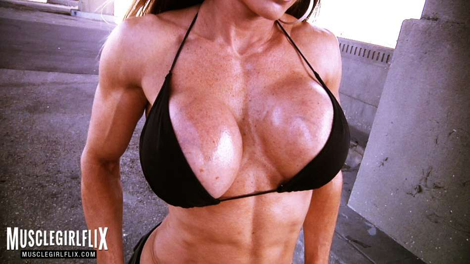 Maria Garcia huge boobs muscle babe
