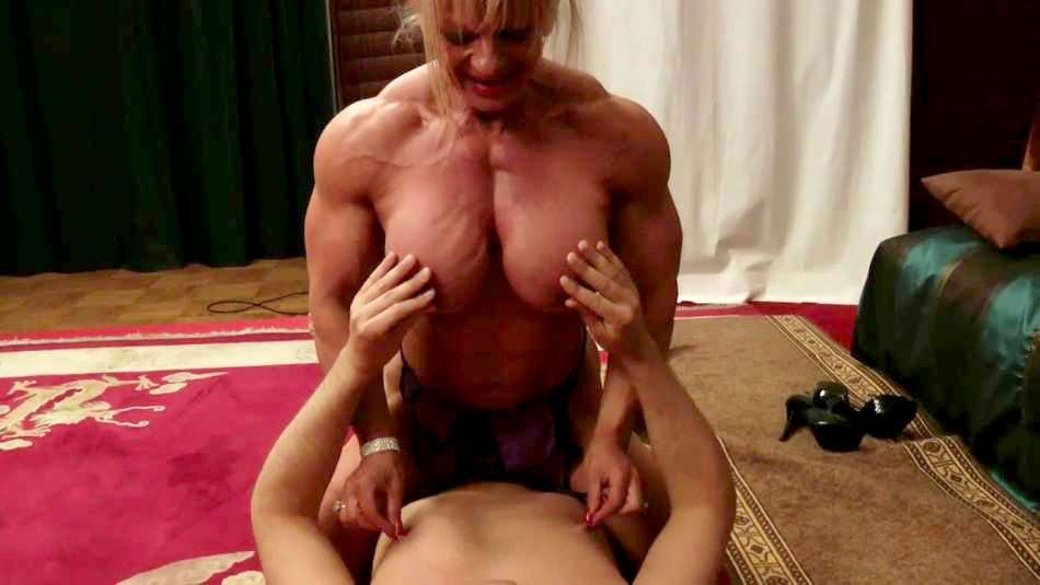 Maryse Manios massive ripped female muscle domination