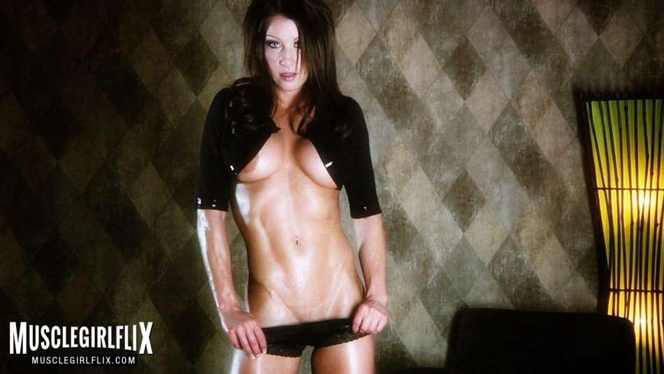 Melyssa Buhl muscle girl flix shredded abs