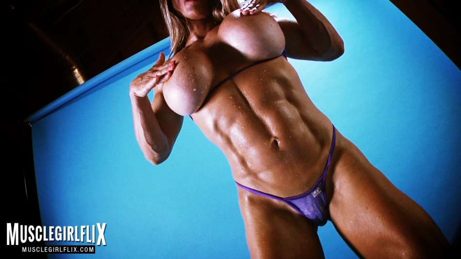 muscle girl maria garcia topless breast expansion
